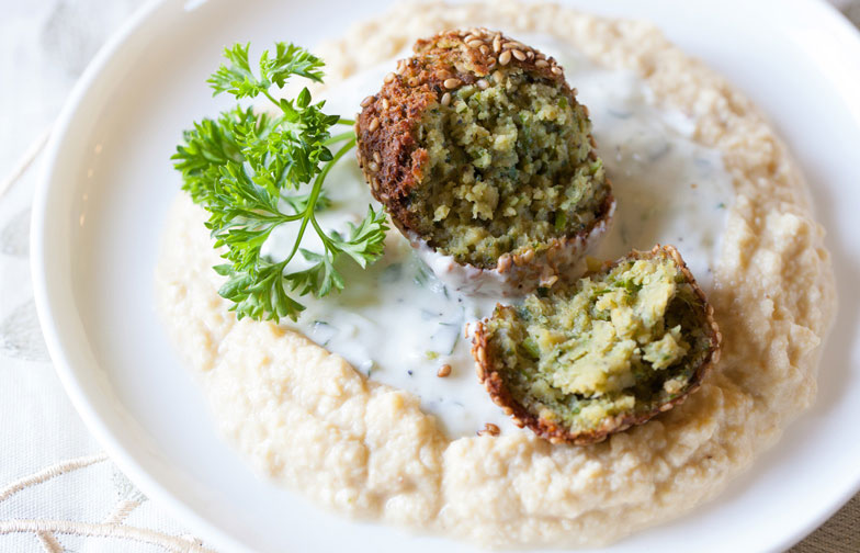 Pan-Fried Falafel with Tzatziki Recipe
