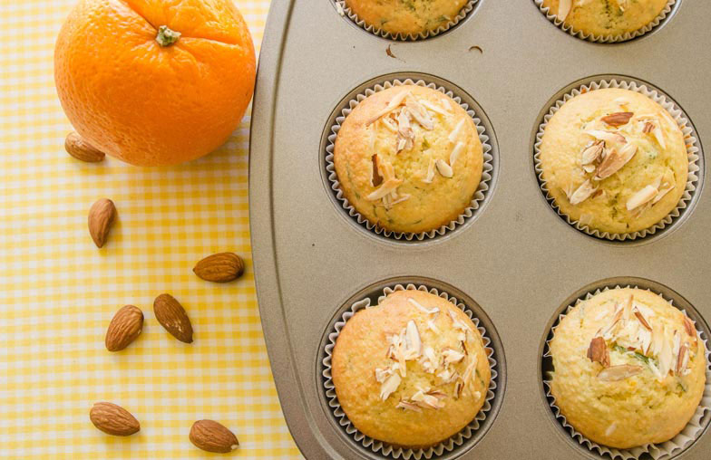 Orange and Basil Olive Oil Muffins