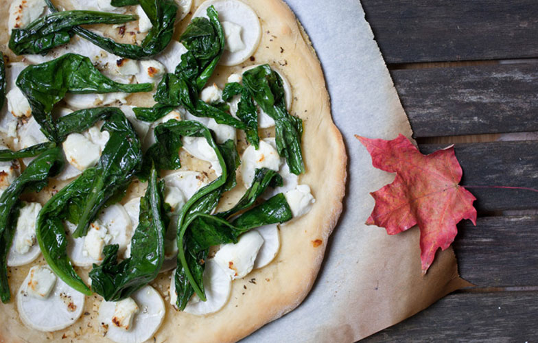 Roasted Turnip Pizza Recipe